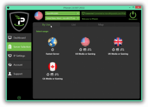 IPVanish dashboard