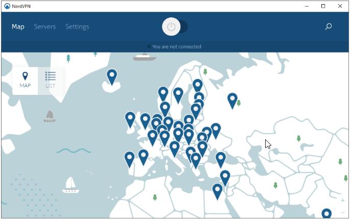 NordVPN locatie instellen