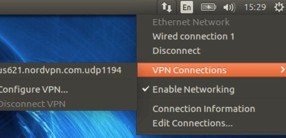 NordVPN linux netwerk manager