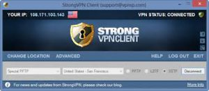 Windows software voor StrongVPN