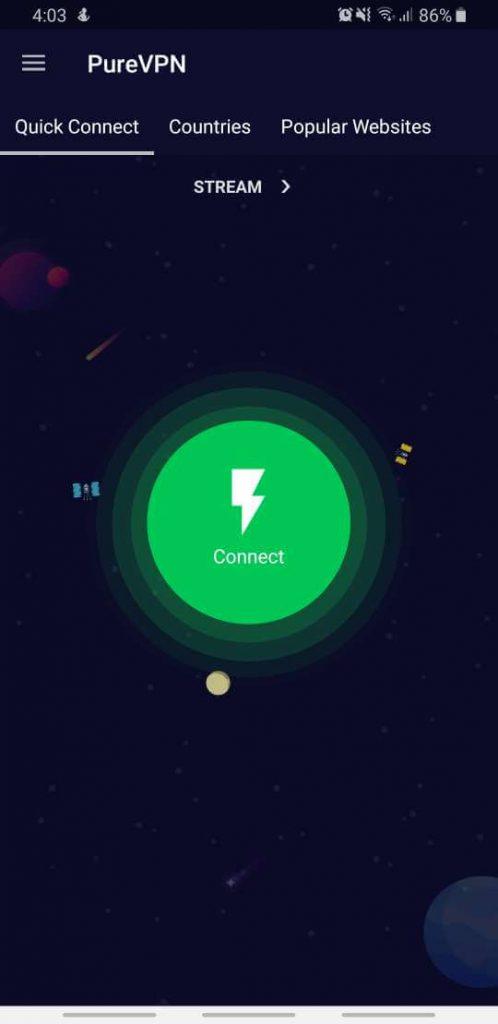 PureVPN verbonden Android
