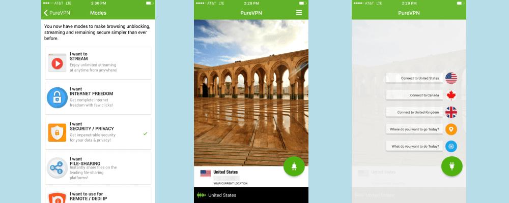 PureVPN op iOS
