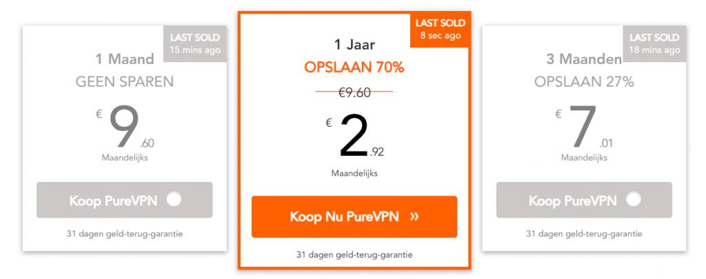kosten PureVPN