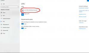 VPN verbinding toevoegen Windows 10