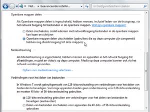 Windows deelinstellingen