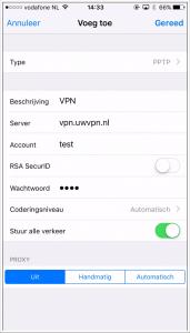 VPN op iPad instellen