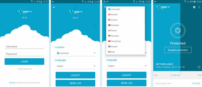 Hide m VPN Android