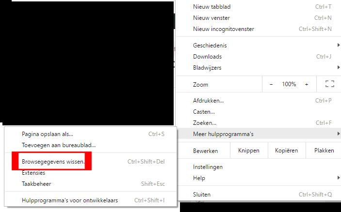 Chrome browsegegevens wissen