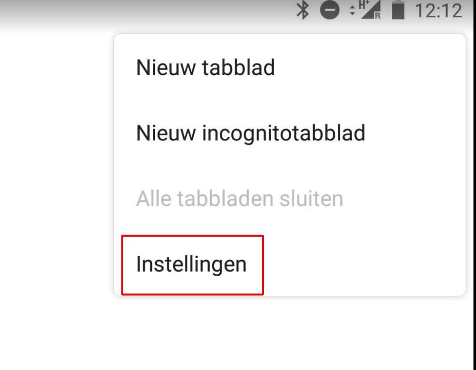 Chrome Android instellingen