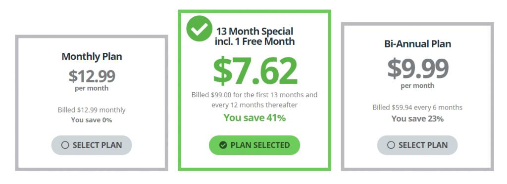 Prijzen buffered VPN