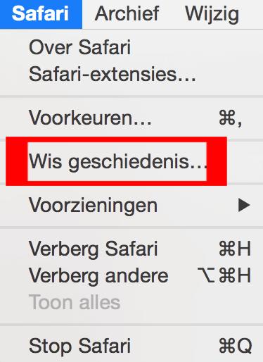 OS X Safari geschiedenis wissen