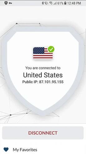 Bullguard VPN Android verbonden