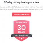 nordvpn 30 dagen geld terug garantie