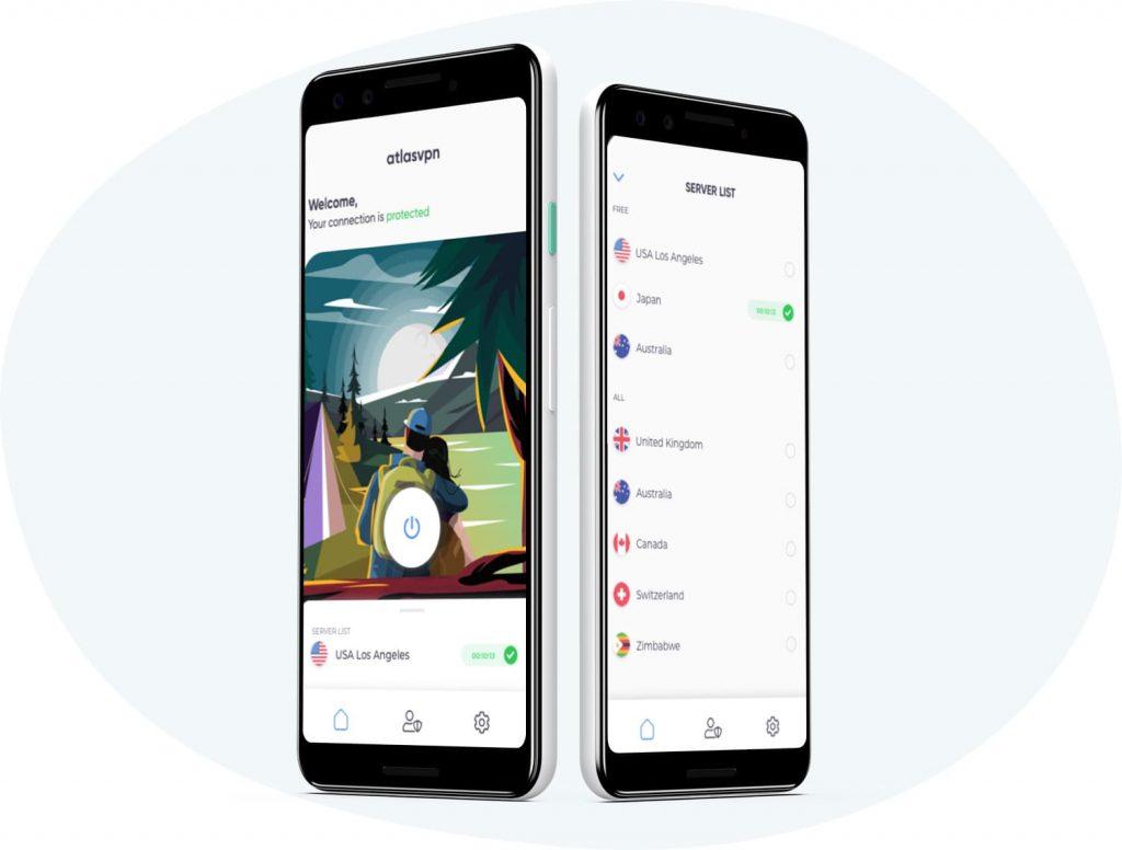 atlas vpn smartphone