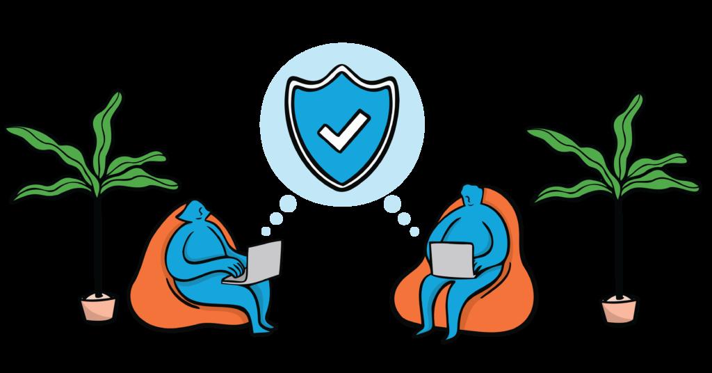 VPN gebruikers zitten thuis veilig op internet met online security in gedachten