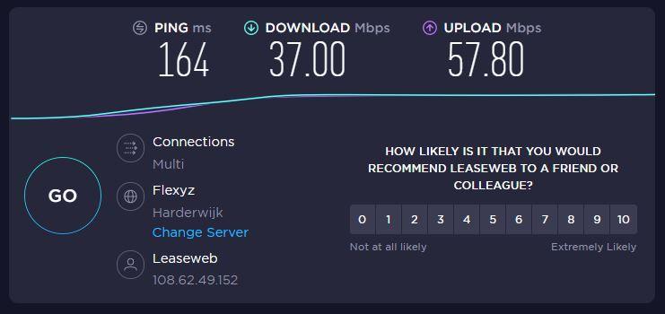 protonvpn speedtest vs server resultaat