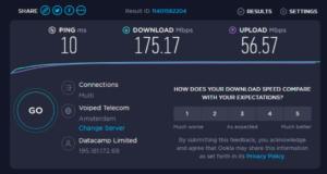 CyberGhost VPN snelheid Nederlandse server