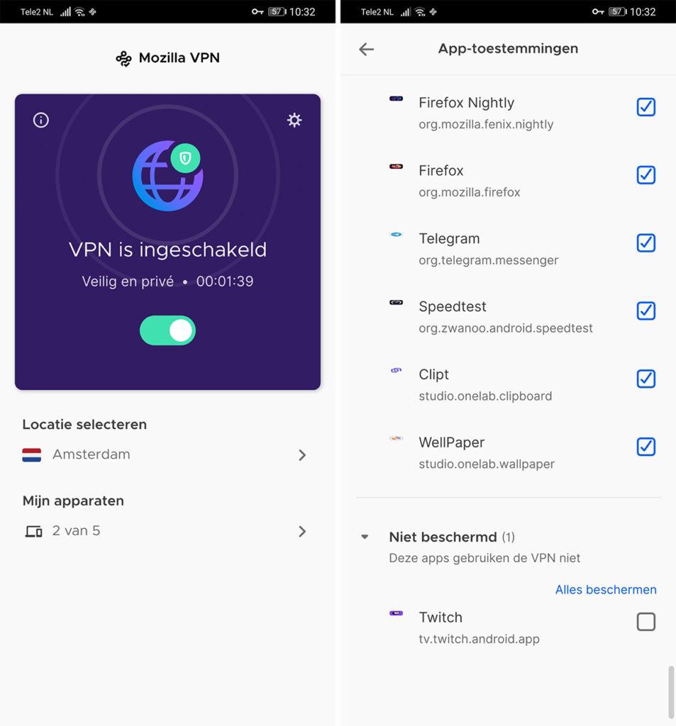 Mozilla VPN Android