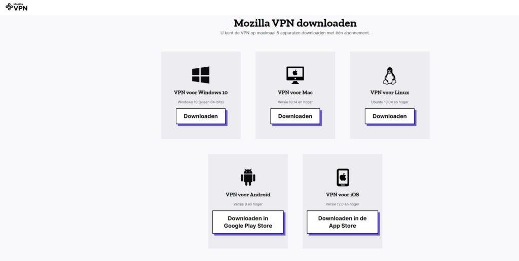 Mozilla VPN install