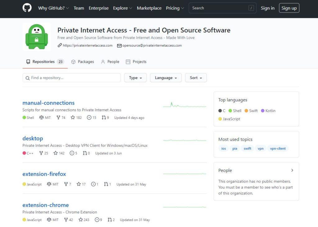 pia open source pagina