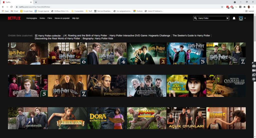 Harry Potter films op Netflix kijken overzicht