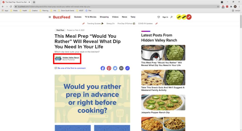 een website probeert een adblocker te omzeilen