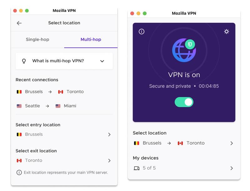 Mozilla VPN multihop